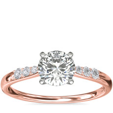 Petite Diamond Engagement Ring in 14k Rose Gold (1/10 ct. tw.)