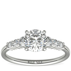 Petite Diamond Engagement Ring in 14k White Gold (0.23 ct. tw.)