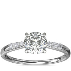 Petite Diamond Engagement Ring in 14k White Gold (0.07 ct. tw.)