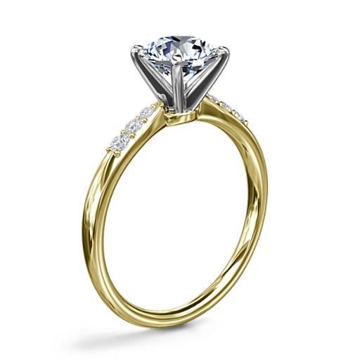 Bague de fiançailles diamant petite taille