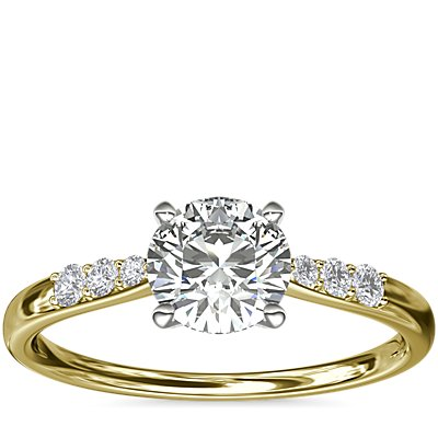 Petite Diamond Engagement Ring in 14k Yellow Gold (0.07 ct. tw.)