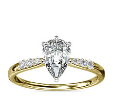 Petite Diamond Engagement Ring in 14k Yellow Gold (0.07 ct. tw.)