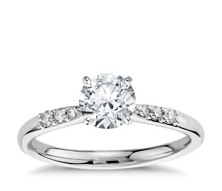 Petite Diamond Engagement Ring in Platinum (1/10 ct. tw.)