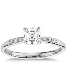 Petite Diamond Engagement Ring in Platinum (0.07 ct. tw.)