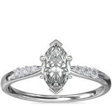Petite Diamond Engagement Ring in Platinum (1/10 ct. tw.)