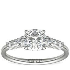 Petite Diamond Engagement Ring in Platinum (0.23 ct. tw.)