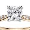 3/4 Carat Preset Petite Diamond Engagement Ring in 14k Yellow Gold