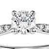 1/2 Carat Preset Petite Diamond Engagement Ring in 14k White Gold