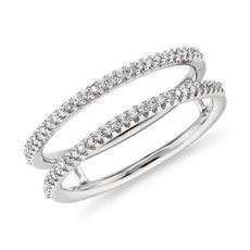 Petite Diamond Open Split Shank Fashion Ring in 14k White Gold (0.17 ct. tw.)