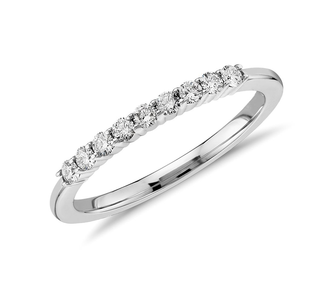 Petite Diamond Ring in 14k White Gold (0.2 ct. tw.)