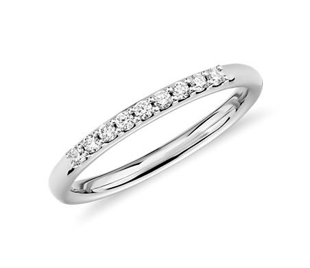 14k 白金 小巧鑽石戒指<br>( 1/10 克拉總重量)