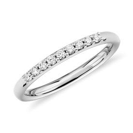 NOUVEAU Petite bague diamant en or blanc 14carats (1/10carat, poids total)