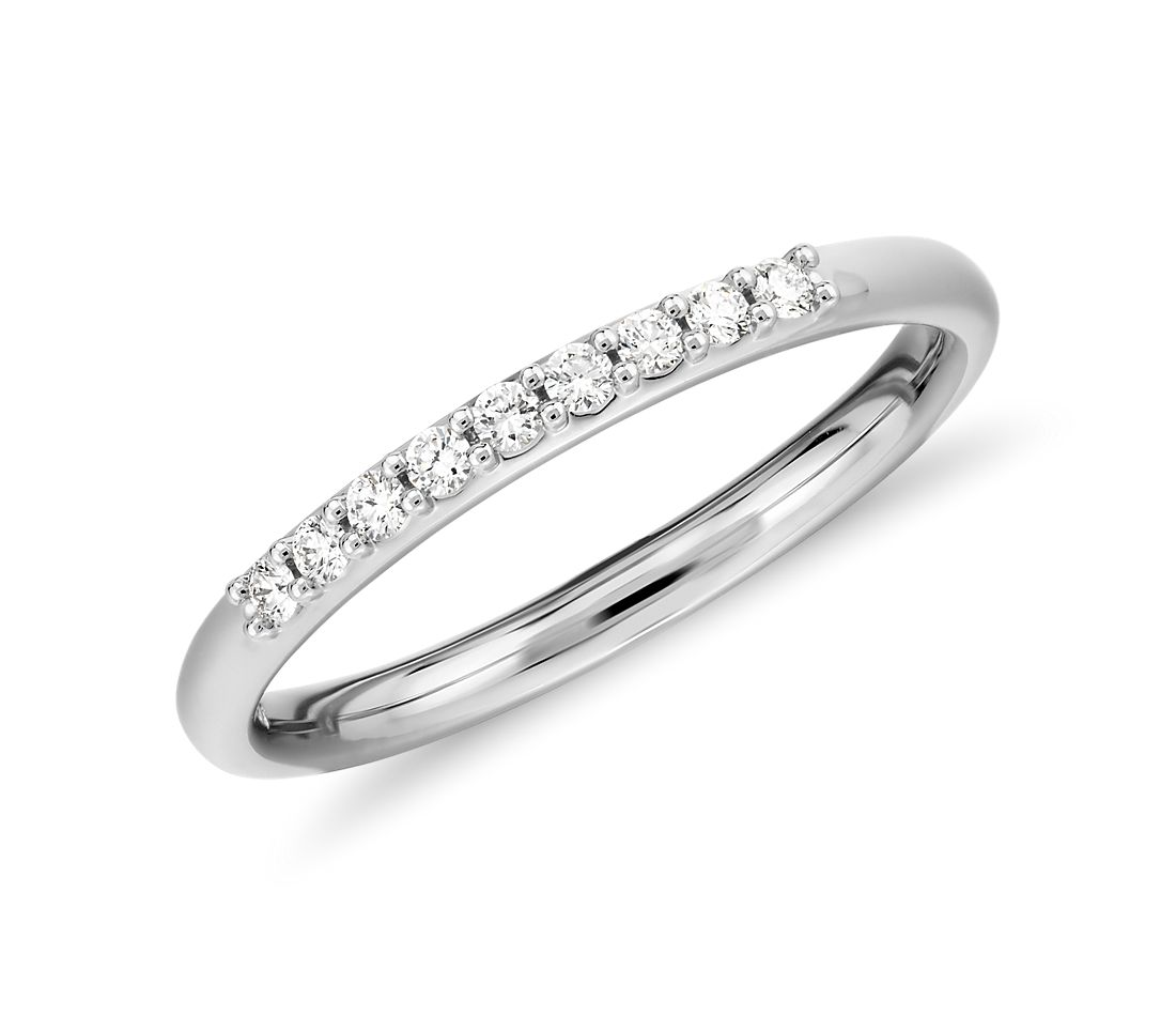 Petite Diamond Ring in Platinum