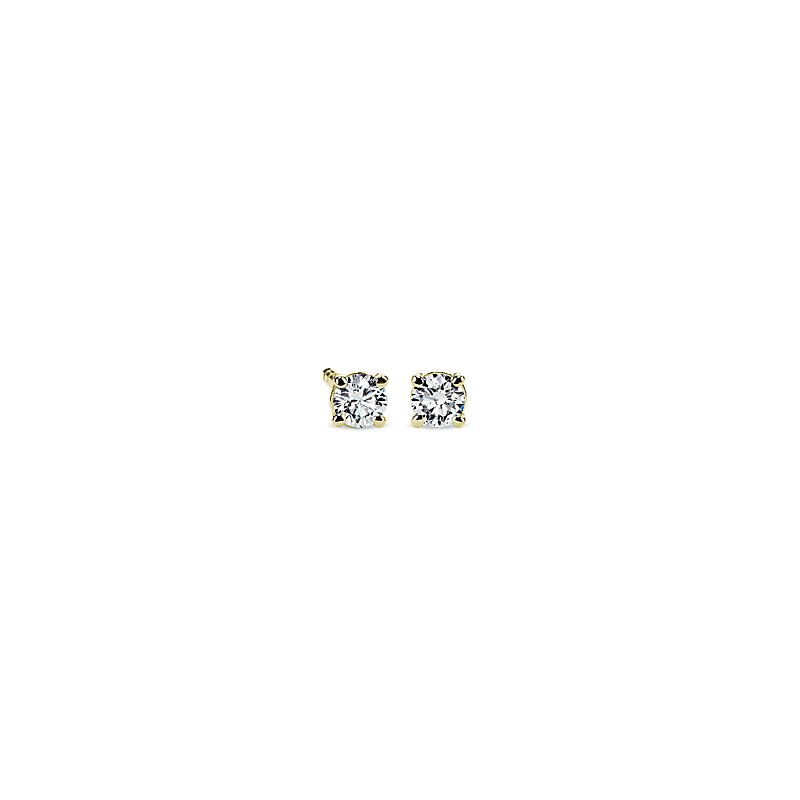 Diamond Stud Earrings in 14k Yellow Gold (1/5 ct. tw.)