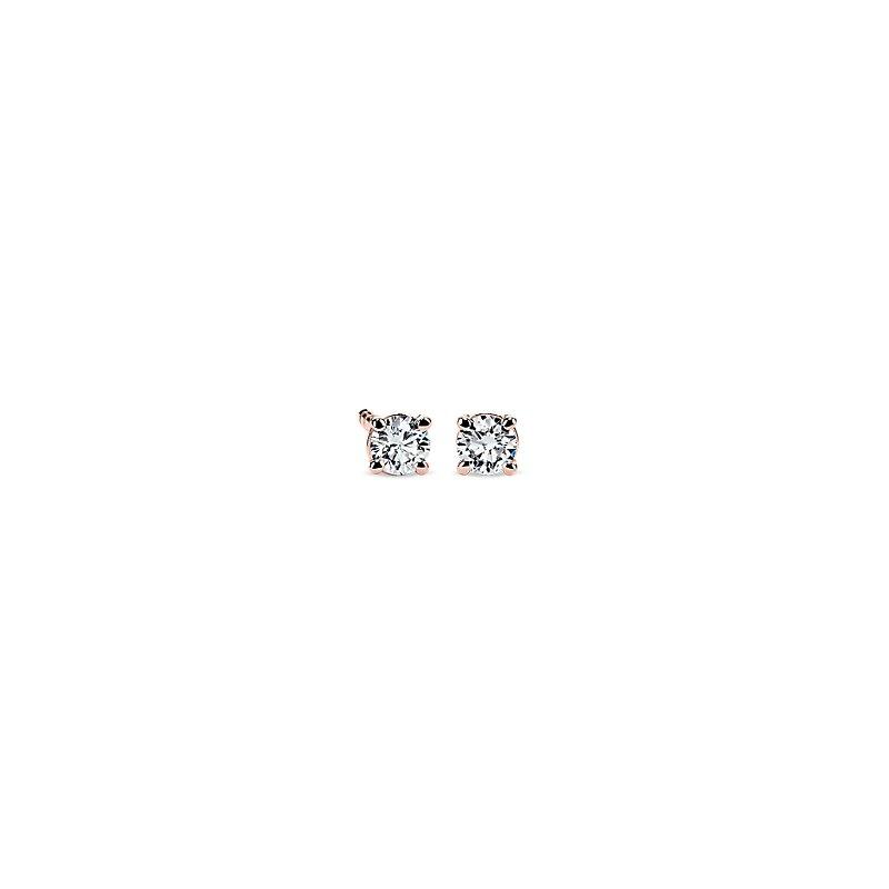 Petite Diamond Stud Earrings in 14k Rose Gold (1/5 ct. tw.)