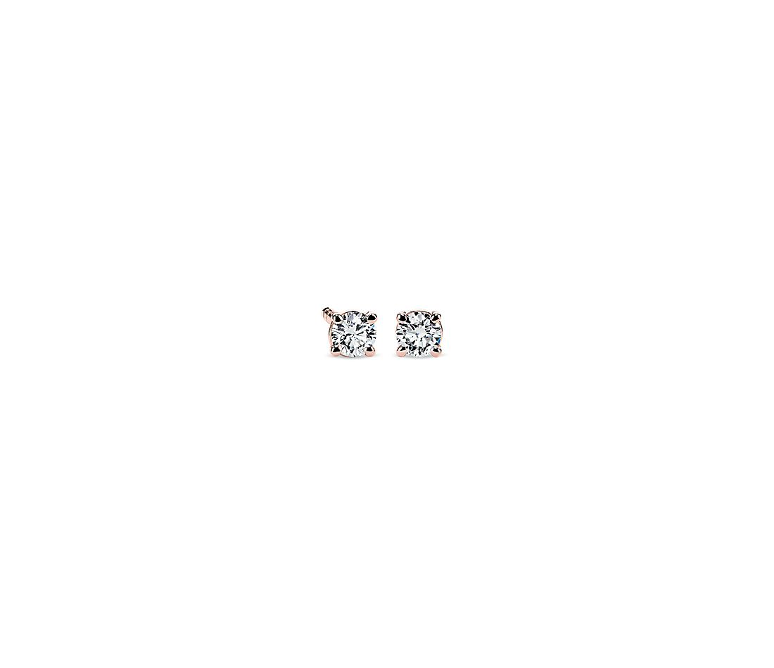 Petite Diamond Stud Earrings in 14k Rose Gold (1/5 ct. tw.)