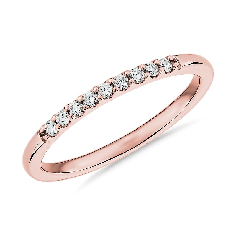 Petite Diamond Ring in 14k Rose Gold (1/10 ct. tw.)