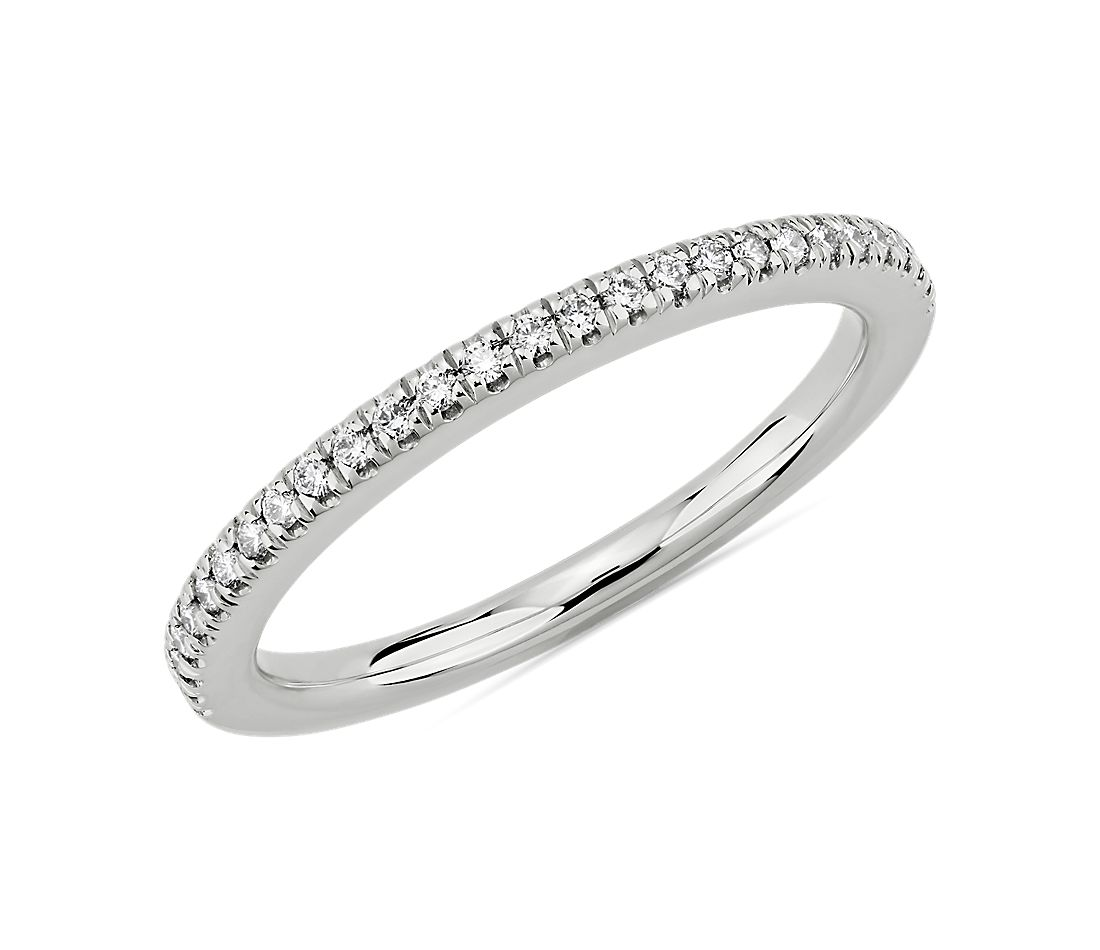 Petite Diamond Wedding Ring in 14k White Gold (1/8 ct. tw.)