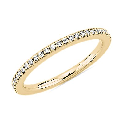 Petite Diamond Wedding Ring in 14k Yellow Gold (1/8 ct. tw.)