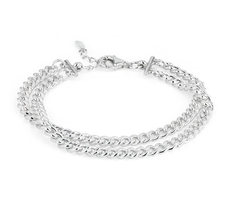 Blue Nile Triple Strand Box Chain Bracelet in Sterling Silver 05rXcLj9