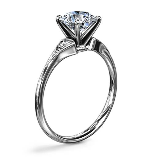 Heirloom Petite Milgrain Engagement Ring