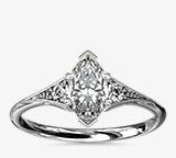 Heirloom Petite Milgrain Engagement Ring