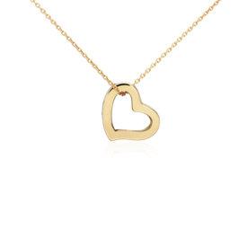 Petite Heart Pendant in 14k Yellow Gold