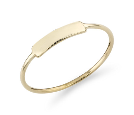 Blue Nile Petite Disk Fashion Ring in 14k Yellow Gold lmMDE