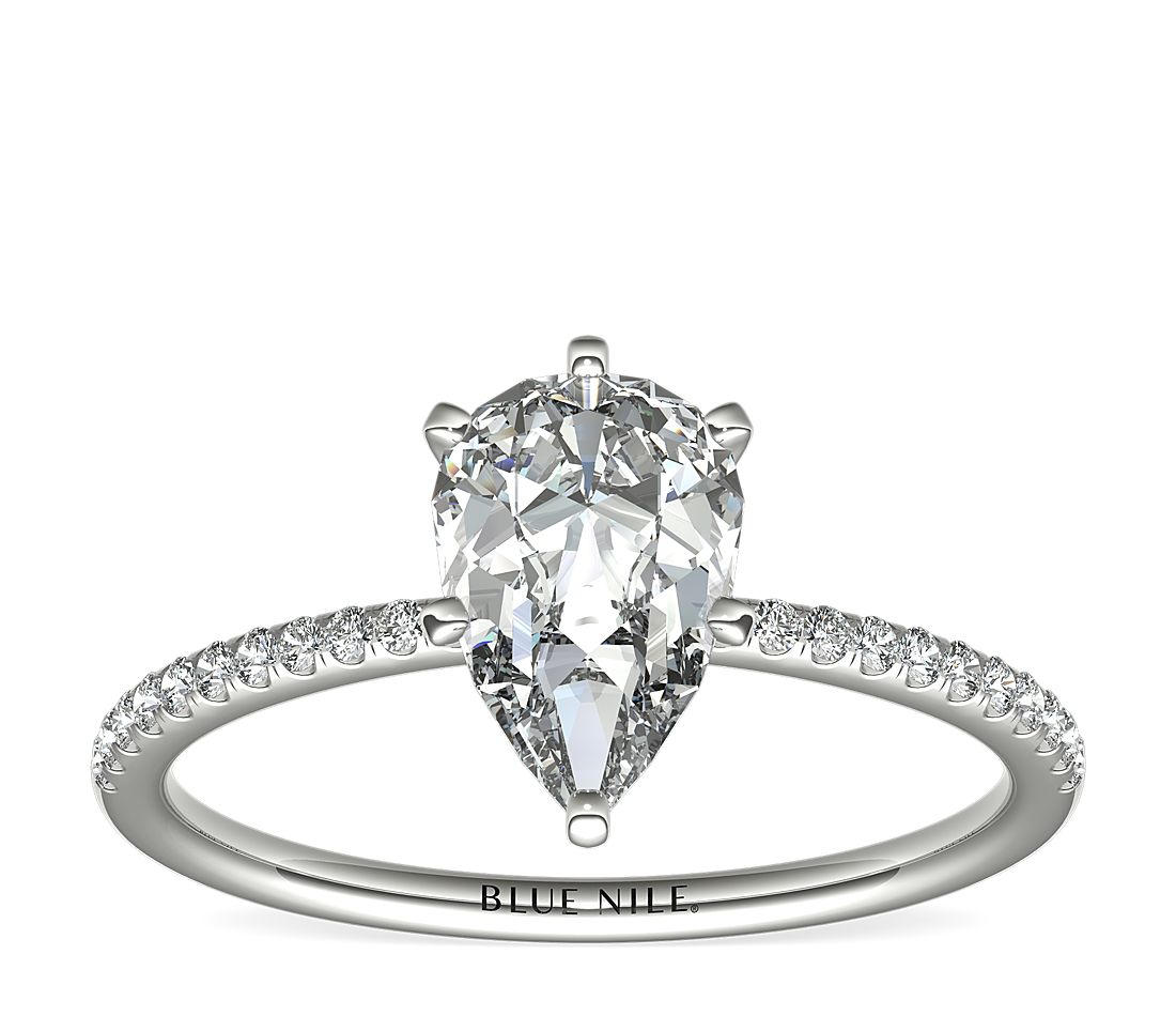 1.14ct.PS in *Delicate* Petite Micropave 14KWG