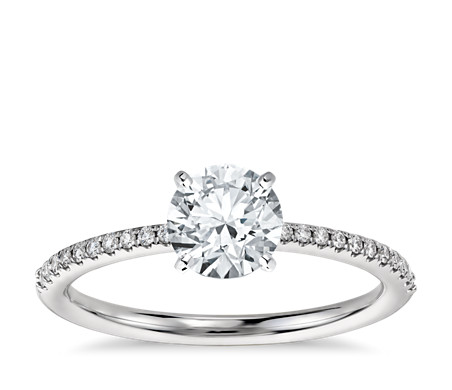 jewelry pave ritani rings diamond white gold ring bypass micro micropave modern engagement