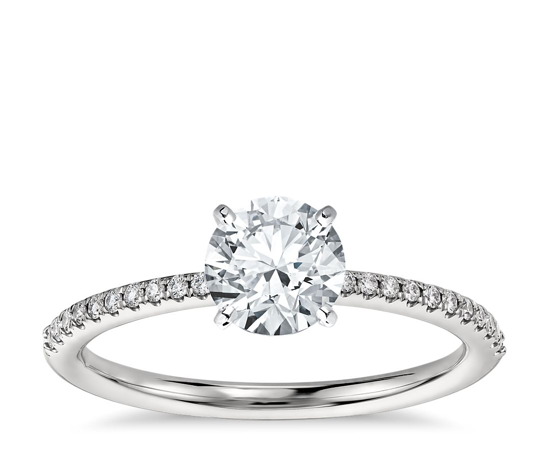 has matching band - Square Cut Wedding Rings