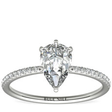 994382e0796d60 Pear Cut Diamond Engagement Rings | Blue Nile
