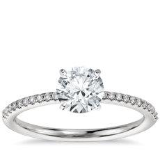 Has Matching Band Pee Micropavé Diamond Engagement Ring