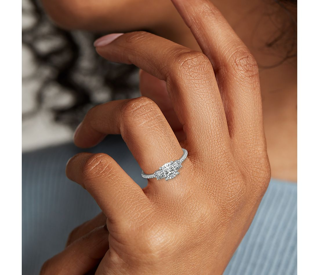 Side view of ring on a hand