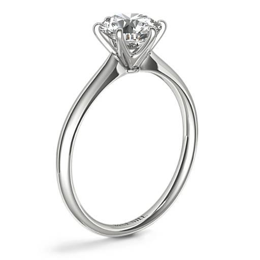 Petite Nouveau Six Claw Solitaire Engagement Ring