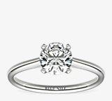 Petite Nouveau Four Claw Solitaire Engagement Ring