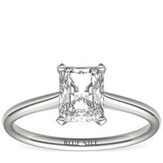 Petite Nouveau Four Prong Solitaire Engagement Ring
