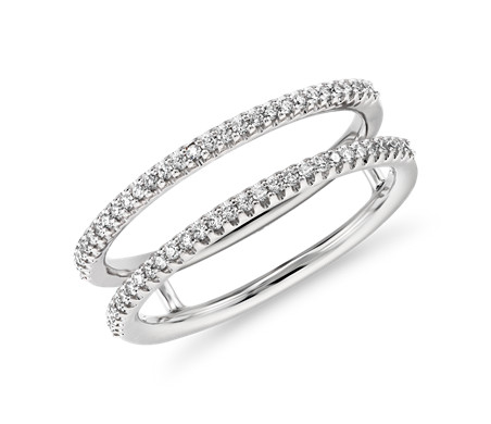 Delicate Open Shank Diamond Fashion Ring