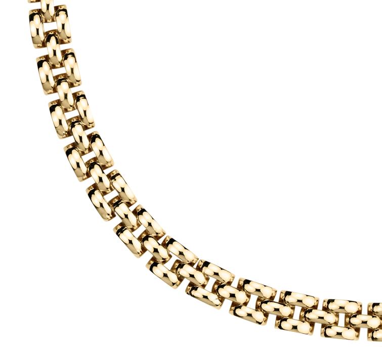 Collier panthère petite taille en or jaune 14carats