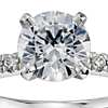 1 Carat Preset Petite Pavé Diamond Engagement Ring in 14k White Gold