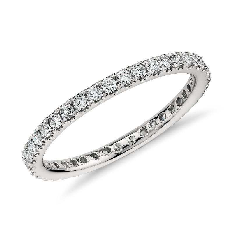 Riviera Pavé Diamond Eternity Ring in Platinum  (1/2 ct. t