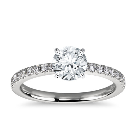 the setting engagement pave rings shows this cut with ring a round halo diamond wedding brilliant image center micro tw micropave c