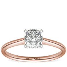 Petite Solitaire Engagement Ring in 14k Rose Gold