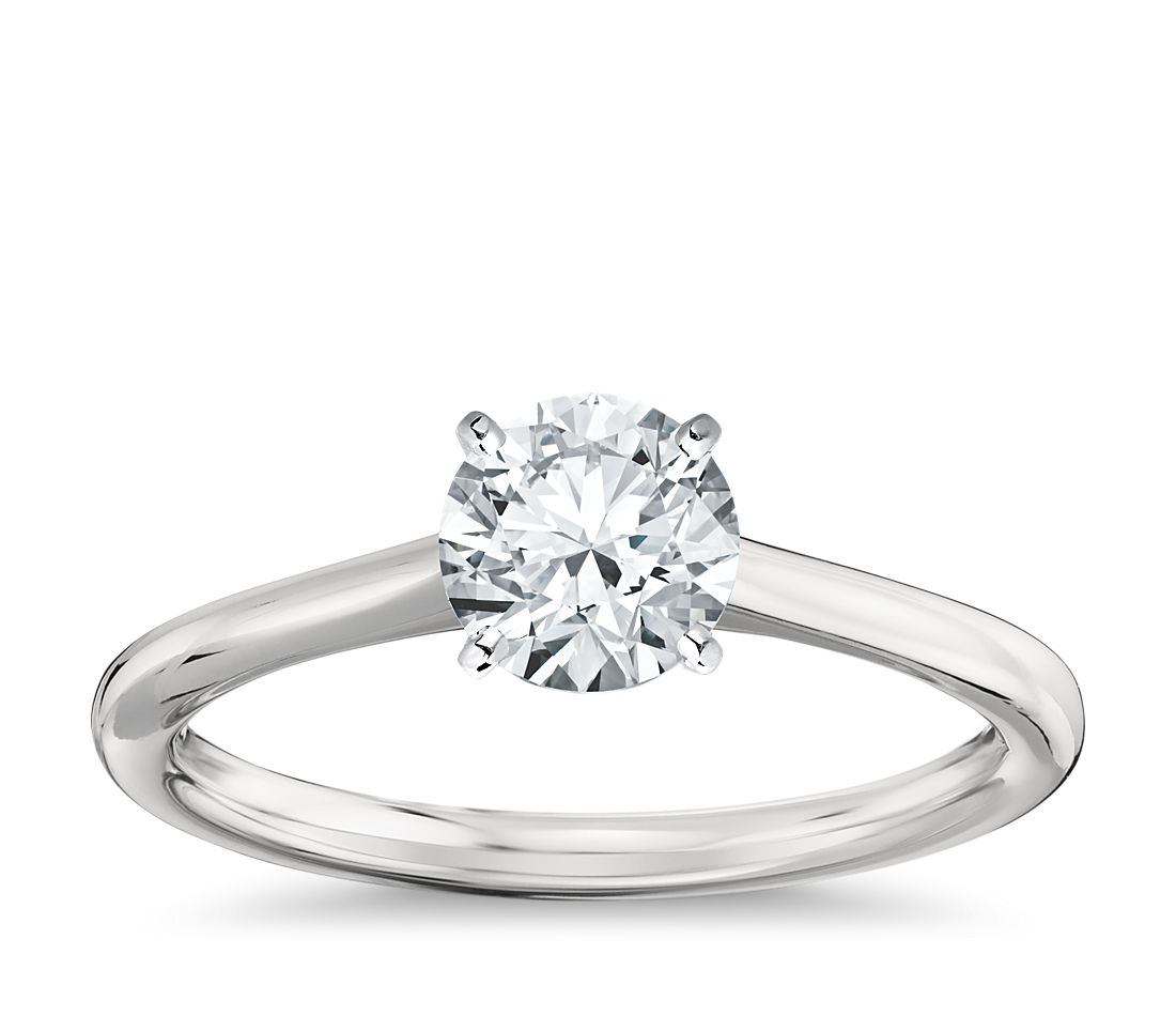 Petite Solitaire Engagement Ring In Platinum Blue Nile