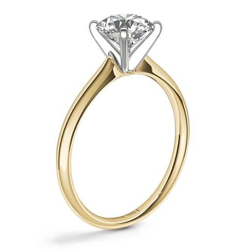 小巧單石訂婚戒指