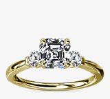 Petite Three-Stone Diamond Engagement Ring