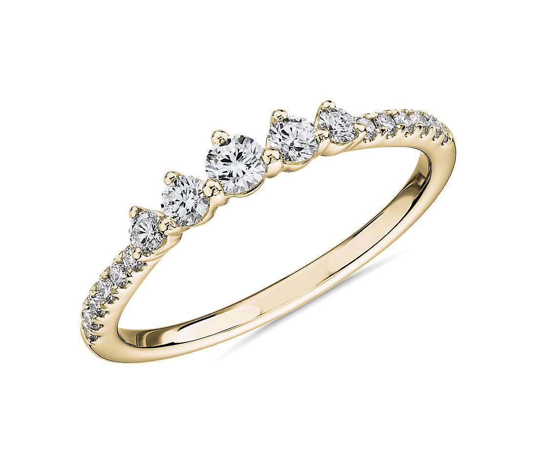 Petite Tiara Diamond Wedding Ring in 14k Yellow Gold (1/3 ct. tw.)