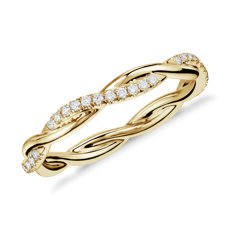 Petite Twist Diamond Eternity Ring in 14k Yellow Gold (0.19 ct. tw.)