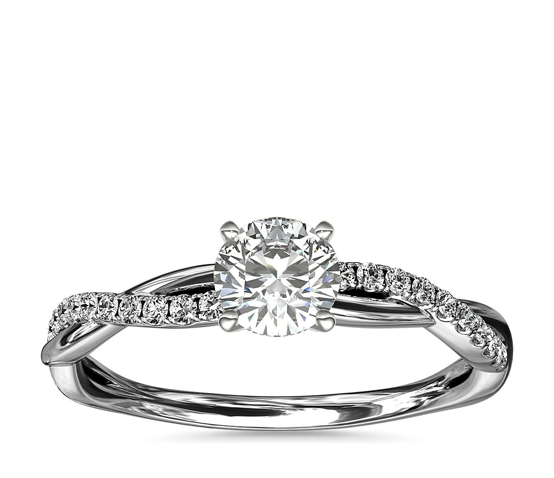 .46ct.RD in Petite Twist Engagement 14KWG