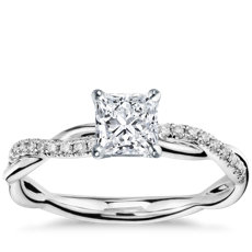 cut set ring engagement fashion french square diamond band ritani princess rings quality
